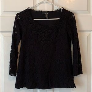 Black lace top from Style & co.